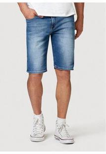 Bermuda Jeans Hering Slim Com Barra Dobrada Masculina - Masculino