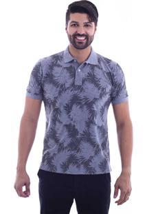 Camisa Polo Live Leaf Cinza Claro 307-04 - P 9cd20f153df52