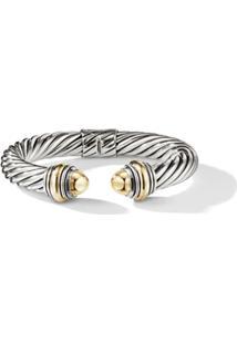 David Yurman Bracelete 10Mm 'Cable Classics' Em Ouro 14Kt Detalhado - S4Bgg