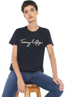 Camiseta Tommy Hilfiger Heritage Crew Neck Graphic Azul-Marinho