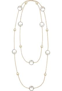 Fendi F Is Fendi Necklace - Dourado