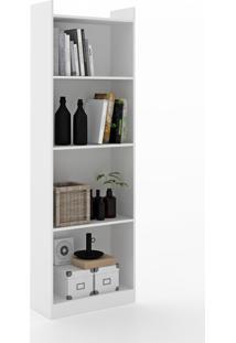 Estante Para Livros 4 Prateleiras 600052 Branco - Vedere