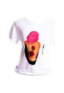 Camiseta Branca Prorider Bad Rose Personagem Autoral Nanami Nem Fell