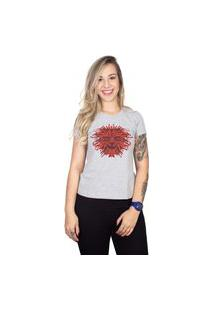 Camiseta 4 Ás Mesclada Manga Curta Leão