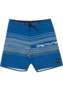 Bermuda Rvca Boardshort Neon Rvca Trunk - Masculino-Azul