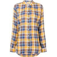 8a2d3fe112 Closed Camisa Xadrez Com Gola Frade - Amarelo