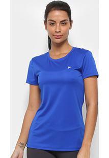 Camiseta Fila Floating F Ii Feminina - Feminino-Azul Royal