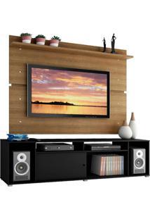 Rack Madesa Cancun E Painel Para Tv Até 65 Polegadas - Preto/Rustic