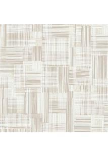 Papel De Parede Decor Moderno Texturizado Bege E Areia 0.53X10M