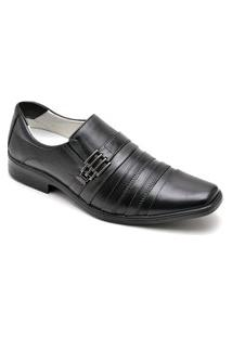 Sapato Social Masculino Elegante Em Couro - Preto 010Rt