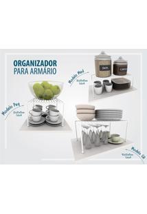 Kit Organizador Armário Cozinha Prateleira Aramado Aço 3 Un Dicarlo Preto