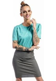 Camiseta Cia Gota Full Garden Feminina - Feminino-Verde
