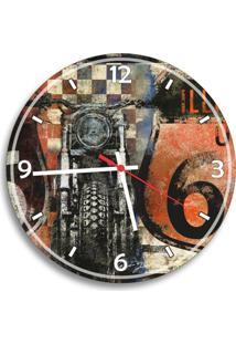 Relógio De Parede Decorativo Moto Retrô Único