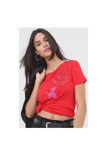 Camiseta Lança Perfume Bordado Vermelha