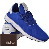 efcac8feaea Kit Tênis Masculino Polo Joy Sport + Carteira - Masculino-Azul
