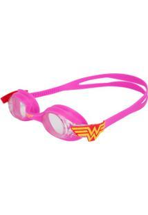 Óculos De Natação Floty Mulher Maravilha - Infantil - Rosa Escuro