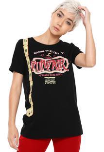 Camiseta My Favorite Thing(S) Com Bolso Preta