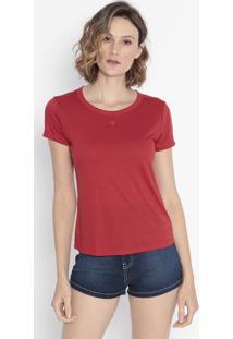 Camiseta Com Bordado - Rosa Escurocavalera