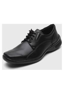 Sapato Social Colombo Pespontos Preto