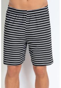 Bermuda Masculina De Pijama Listrada
