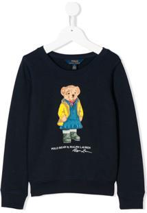 Ralph Lauren Kids Moletom Com Estampa De Urso - Azul