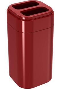 Porta Escova Splash Vermelho Bold Coza