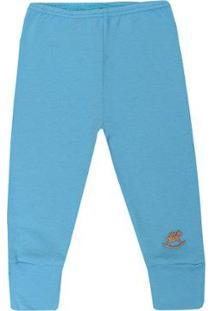 Calça Bebê Suedine Up Baby Masculina - Masculino-Azul