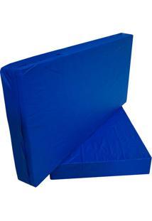 Capa Para Colchão Casal Hospitalar Impermeável Azul Com Ziper - 1.38X1.88X0.20