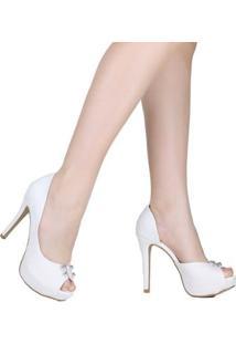 Peep Toe Zariff - Feminino-Branco