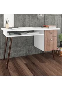 Mesa Escrivaninha Rt 3067 Branco/Rústico - Móvel Bento