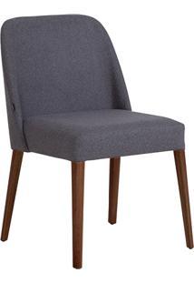 Cadeira Rosini - Base Amãªndoa E Tecido Cinza