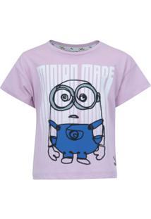 Camiseta Puma Minions Tee Feminina - Infantil - Rosa