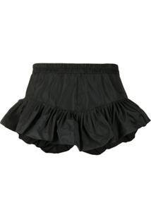 Philosophy Di Lorenzo Serafini Ruffled Elasticated Waist Shorts - Preto