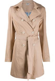 Liu Jo Trench Coat Com Cinto - Neutro