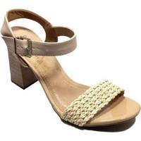2f3d03e15 Sandália Nude Ramarim feminina   Shoes4you