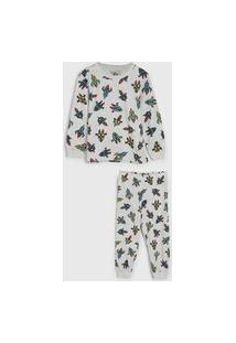Pijama Brandili Longo Infantil Foguete Cinza