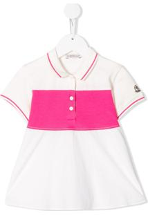 Moncler Kids Colour Block Polo Shirt - Branco