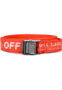 Off-White Cinto Industrial Mini - Laranja