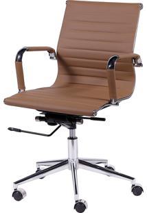 Cadeira De Escritório Esteirinha Baixa - Caramelo