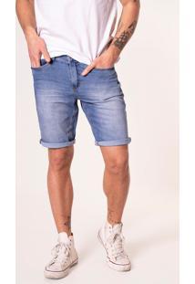 Bermuda Jeans Rock Show Skinny Azul