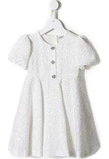 Dolce & Gabbana Kids Vestido Jacquard - Branco