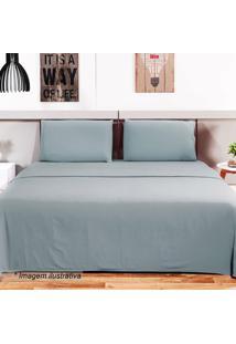 Jogo De Cama Loft Casal- Azul Claro- 4Pçs- 150 Fcamesa
