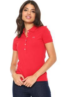 Camisas Polo Acinturada Vermelha   Shoes4you e08875de2f