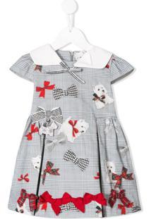 Lapin House Vestido Mini Xadrez - Cinza