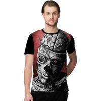 440fe1661f8c1 Camiseta Stompy Zombie Masculino - Masculino-Vermelho+Preto