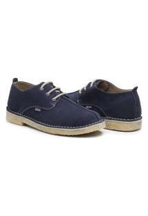 Sapato Estilo Inglês London Style Modelo Liverpool Cor Marinho
