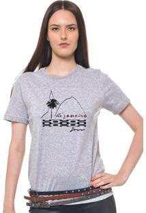 Camiseta Feminina Joss - Pao De Açucar - Feminino-Mescla