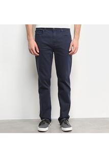 Calça Vr Color Straight Comfort Masculina - Masculino-Azul Petróleo