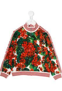 Dolce & Gabbana Kids Portofino Print Bomber Jacket - Verde
