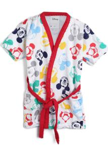 Roupão Felpudo Lepper Infantil Quimono Mickey